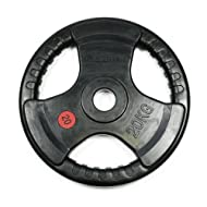 Buy Bodymax Olympic Rubber Radial Weight Plates - 2 x 10kg Comparison-image