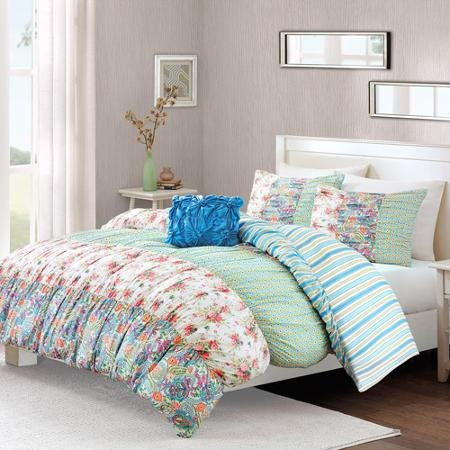 Better Homes And Gardens Serendipity Bedding Duvet Cover With 2 Shams And 1 Decorative Pillow