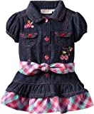 Carters Watch the Wear Baby-girls Infant Denim Dress With Cherries and Striped Belt