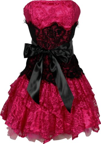 Strapless Bustier Contrast Lace and Crinoline Ruffle Prom Mini Dress Junior Plus Size