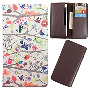 DooDa - For Lava Iris 325 Style PU Leather Designer Fashionable Fancy Case Cover Pouch With Card & Cash Slots & Smooth Inner Velvet