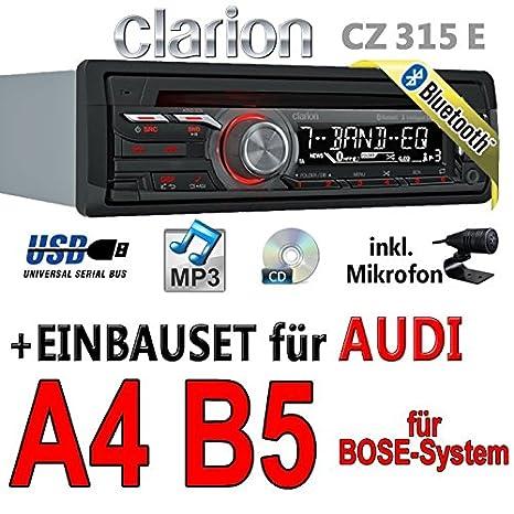 Audi a4 b5 bose-clarion cZ315E-autoradio bluetooth avec