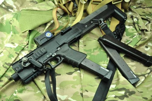 HERA ARMS GCC Style= GLOCK Carbine Conversion Kit /マルイ用BK
