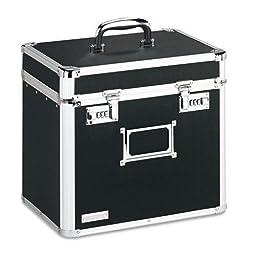 VAULTZ VZ01165 Locking Security Storage Box, Letter, 13 1/2w x 10 1/2d x 13 1/4h, Black
