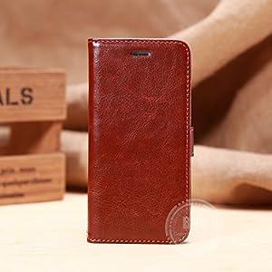 【FGS】ワイン【全8色】 iphone6 ケース 4.7インチ横開き 手帳型カバー PUレザー素材 スタント機能付き カードセット付き FGS正規代理品