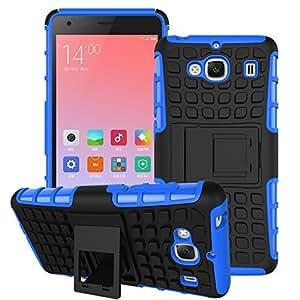 Dashmesh Shopping Hybrid case for Xiaomi Redmi 2 Mi 2 Mi2 Prime, Rugged Dual Layer TPU + PC Kickstand Hybrid Case Back Cover for Xiaomi Redmi 2 Mi 2 Mi2 Prime Blue
