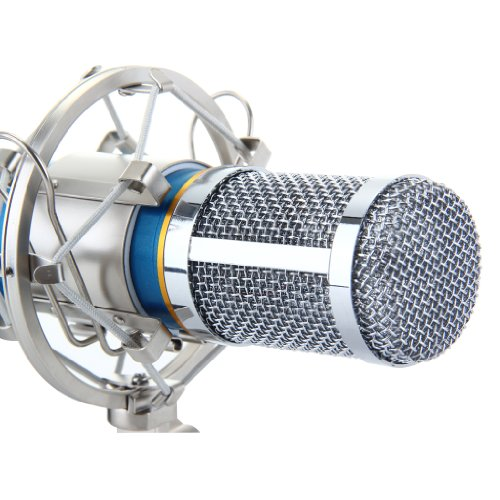 Floureon BM-800 Condenser Sound Studio Recording Broadcasting Microphone + Shock Mount Holder Blue - 6