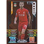 Match Attax 2015/2016 Jordan Henderson Bronze Limited Edition Trading Card 15/16 LE5