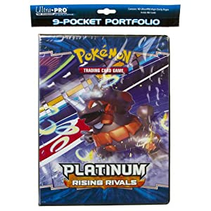 Pokemon Platinum Rising Rivals Trading Card Game 9-Pocket Portfolio