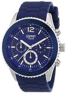 Esprit - ES105331003 - Montre Homme - Quartz Chronographe - Alarme/Chronomètre - Bracelet Résine Bleu