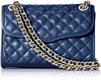 Rebecca Minkoff Mini Quilted Affair Cross-Body Bag,Navy,One Size