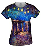 "Vincent Van Gogh - ""The Starry Night"" (1889) -Tagless- Womens Shirt-X-Large"