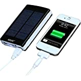 GRDE® 10000mAh Power Bank Portable Charger Dual USB Ports Battery Charger External Battery Backup Battery Battery Pack, for Headlights Most Of Smartphones (Special Function: Solar Charging in Outdoor Emergency Situation)