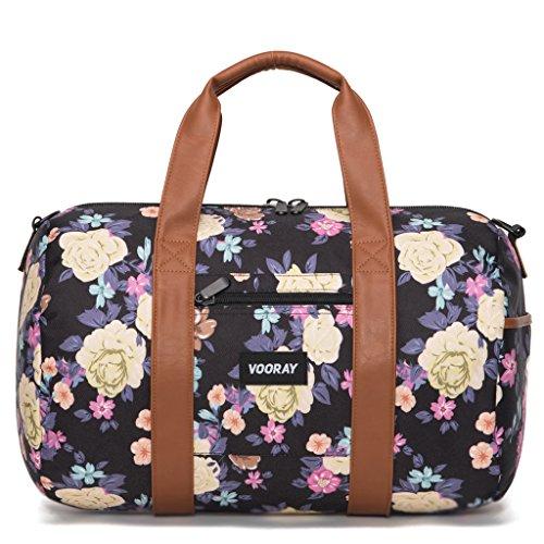 vooray-roadie-16-small-gym-duffle-bag-macana-floral-black