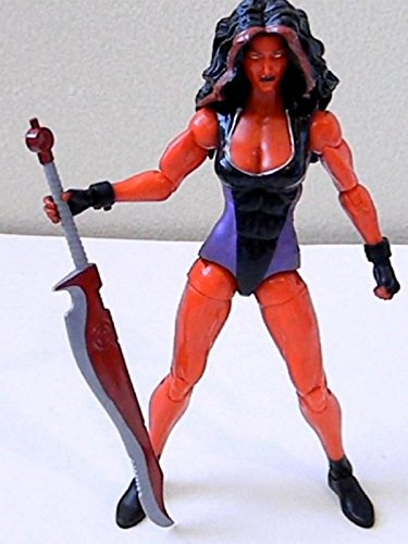 "Marvel Legends RED SHE-HULK 6"" inch Review (Hasbro action figure toy)"