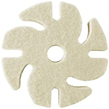 "JoolTool 3M Ninja See-Thru Buff and Polish Felt Wheel, Medium, 3"" Diameter"