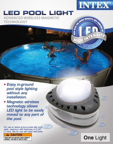 Intex Above Ground Led Magnetic Swimming Pool Light Yellow 2 Pack