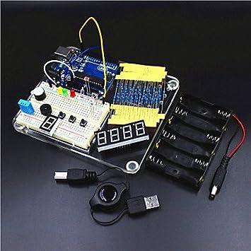 Uno r3 plate-forme d'expérimentation / uno r3 kit d'apprentissage de base pour Arduino - transparent