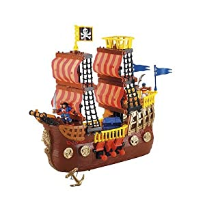 Amazon.com: Fisher-Price Imaginext Adventures Pirate Ship: Toys