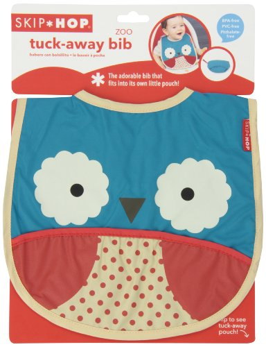 Hudson Baby Girl Waterproof Bib Girly Owl 5-Pack