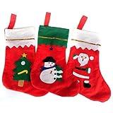 3 pcs Fabrics Santa Claus Socks Bag-3 pcs