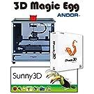 ムトーエンジニアリング 3Dプリンター 3D Magic Egg(側面ブラック / 扉ブラック)3DCGソフト『Sunny 3D』『Shade 3D Basic』付属 MF-1050-KK