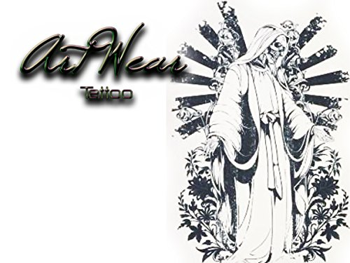 """Tatuaggio Temporaneo Realistico di artista """"Death Benediction"""" - ArtWear Tattoo Beauty - B0145 M"""