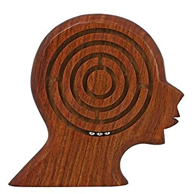 Handmade Wooden Brain Maze Puzzle for Kids - Children's Labyrinth Game - Unique Gifts for Kids