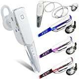 WIRELESS WHITE BLUETOOTH STEREO HEADSET FOR ACER LIQUID GLOW E330 E310 MT