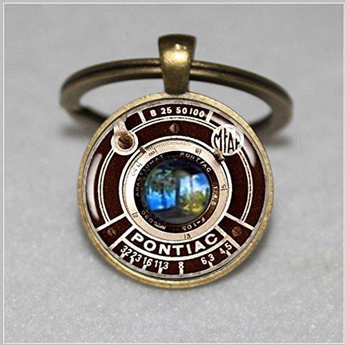 Vintage Camera Pendant Keychain Charm Pontiac Camera Lens Jewelry (Pontiac Charm compare prices)