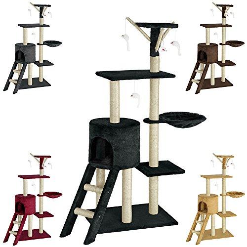 TecTake Tiragraffi per gatti gatto gioco palestra sisal nuovo altezza media - disponibile in diversi colori - (Nero   no. 401435)