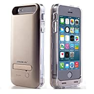 Prolix 2400 mAh Battery Case Charger for iPhone 5/5s -Apple MFI Certified (Gold)