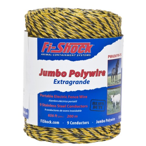 Fi-Shock PW656Y9-FS 9-Strand Polywire, 656-Feet (Poly Wire compare prices)