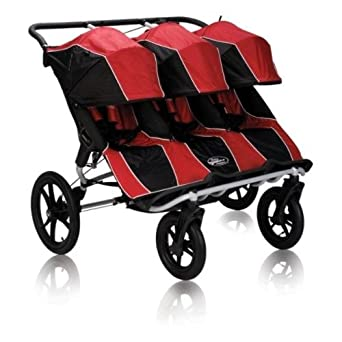 Baby Jogger Summit XC Triple Stroller, Red/Black (Discontinued by Manufacturer) (Discontinued by Manufacturer)