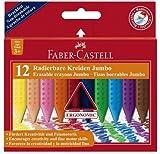 Faber-Castell 122540 - Radierbare Kreide Jumbo GRIP, 12er Kartonetui hergestellt von Faber-Castell