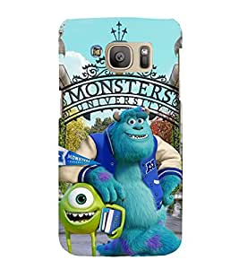 printtech Disneyy Monsters Back Case Cover for Samsung Galaxy S7 edge / Samsung Galaxy S7 edge Duos with dual-SIM card slots