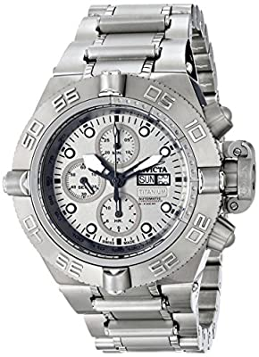 Invicta Men's 12442T Subaqua Analog Display Swiss Automatic Silver Watch