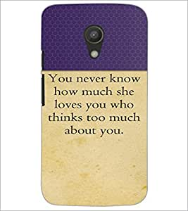 PrintDhaba Quote D-2645 Back Case Cover for MOTOROLA MOTO G2 (Multi-Coloured)