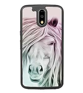 White Horse 2D Hard Polycarbonate Designer Back Case Cover for Motorola Moto G4 Plus :: Moto G4+