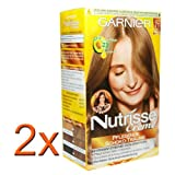2x Garnier Nutrisse Cream Amaretto 71 (natural medium blonde)