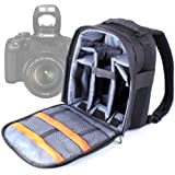Practical Black And Grey Backpack for Canon SX510 HS, Canon EOS 700D, EOS 7D, 350D, 550D, EOS 650D / Rebel T4i, 1100D / Kiss X50 / Rebel T3, EOS 600D & EOS 7D, with Waterproof Rain Cover, By DURAGADGET