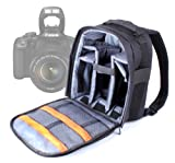 Practical Black And Grey Backpack For Canon EOS 700D, EOS 550D, EOS 650D / Rebel T4i, 1100D / Kiss X50 / Rebel T3, EOS 600D, EOS 7D & 600D, Water Resistant By DURAGADGET