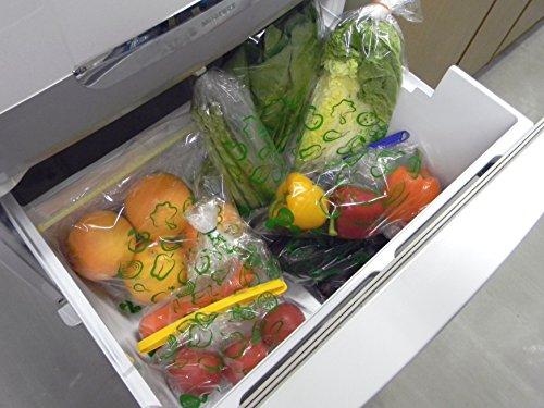 ベルグリーンワイズ 鮮度保持機能袋 オーラパック 【家庭用野菜保存チャック袋 Lサイズ10枚】 AURAPACK-L10(新鮮さを保ち野菜室をすっきり収納でき繰り返し使えます)