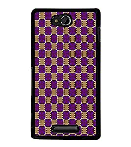 Colourful Pattern 2D Hard Polycarbonate Designer Back Case Cover for Sony Xperia C :: Sony Xperia C HSPA+ C2305
