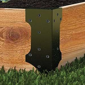 Raised garden bed set of 4 corner brackets - Raised garden bed corner brackets ...