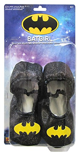 Imagine by Rubies Batgirl Glitter Slipper Shoes