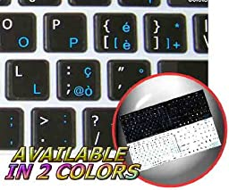 MAC ITALIAN - ENGLISH NON-TRANSPARENT DECALS FOR KEYBOARD BLACK OR WHITE BACKGROUND FOR DESKTOP, LAPTOP AND NOTEBOOK (CG) (Black Background)