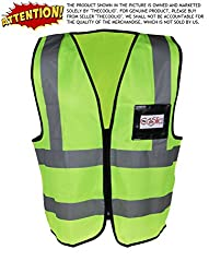 High Visibility Flouroscent Yellow-Green Reflective Safety Vest - X Large