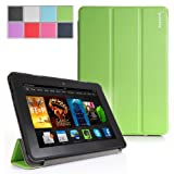 Poetic Slimline Case for New Kindle Fire HDX 7 (2013) 7inch Tablet Green (With Smart Cover Auto Sleep / Wake Feature) (3 Year Manufacturer Warranty From Poetic)