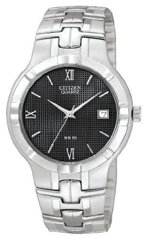 Citizen Quartz Date Round Black Dial Men'S Watch - Bk2320-52E